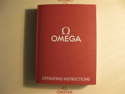 Omega Operating Instructions Book No. I/12 - For Collectors Use Only