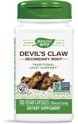 Duivelsklauw Secundaire Root 480 mg (100 Capsules) - Nature's Way