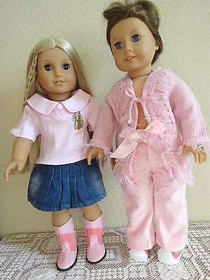 """NEW-DOLL CLOTHES:Cowgirl Set & Pants Set fit 18"""" Doll such as AG Doll-Lot #264"""