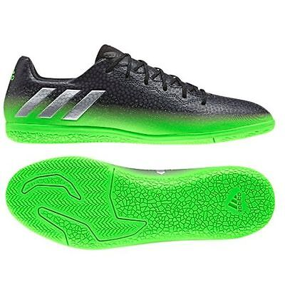 adidas 16.3 IN Messi 2016 Indoor Soccer Shoes Dark Grey - Green Kids - Youth