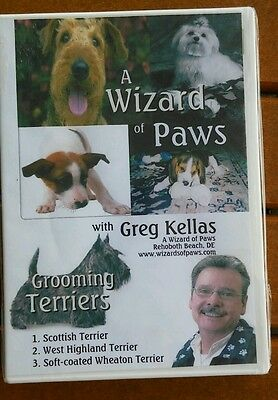A Wizard Of Paws Dog Grooming Terriers DVD  Greg Kellas New Sealed