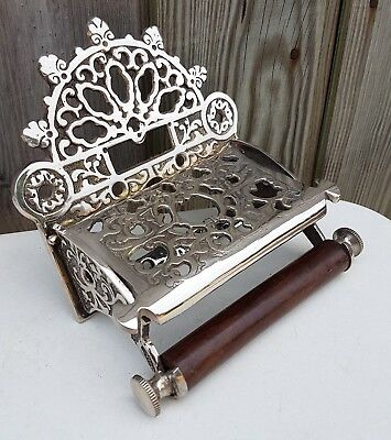 Victorian Toilet Roll Holder Solid Brass Nickel Finish
