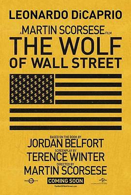 The Wolf of Wall Street Movie POSTER 27 x 40 Leonardo DiCaprio, C, LICENSED NEW