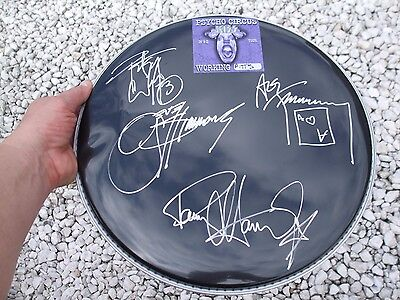 KISS Fully Signed 14 inch Drum Head W/ PASS  signed by GENE PAUL ACE & PETER