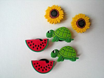 Garden Shoe Charm Fit Jibbitz WristBand And Compatible With Croc Clog Watermelon