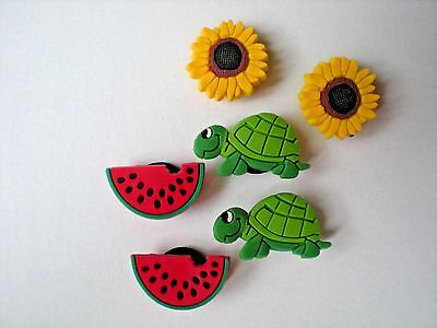 Jibbitz Croc Clog Shoe Plug Charm Turtle Flower Fit Holey Bracelet Accessories