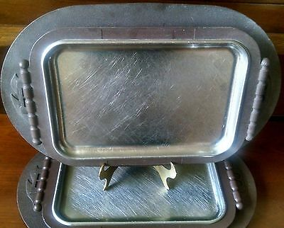 Vintage Steak / Serving Trays ~ BONANZA STEAKHOUSE ~ Made in USA by MARCO