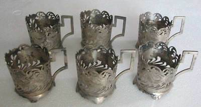 Middle Eastern Antique Hand Engraved&cut-6 Cup Holders