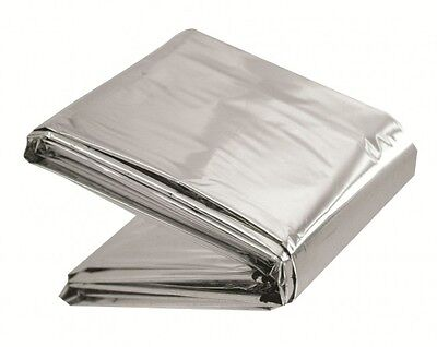 Highlander Reflective emergency outdoor survival mountain blanket foil cover ML