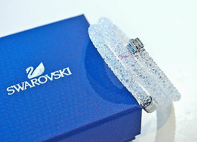 Swarovski Crystaldust Bangle Double White 5237754 M Authentic Brand New In Box