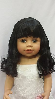 "NWT Monique Sabrina Off Black Doll Wig 16-17"" fits Masterpiece Doll(WIG ONLY)"