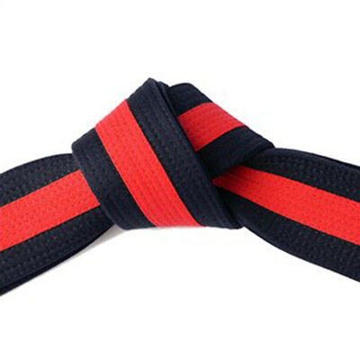 "2"" Master Belt Black with Red Stripe Double Wrap Sizing with 11-Stitching Rows"