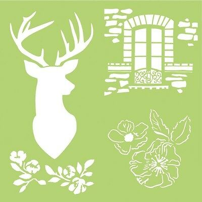 "Kaisercraft 12""x12"" Designer Template/Stencil IT918 ~ Deer"