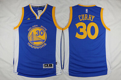 Hot Golden State Warriors Stephen Curry 30 New fabric Blue Basketball Jersey