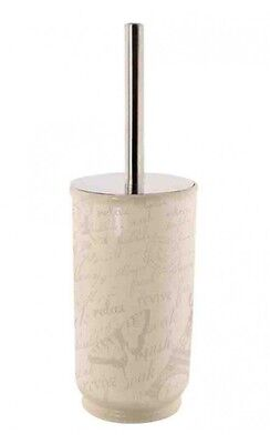 Paris Insipred Vintage Style Toilet Brush With Ceramic Holder Shabby Chic