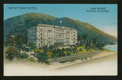 Sanremo - San Remo -  West End Hotel - Proprietario Omarini [A-001]