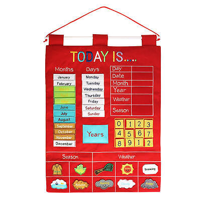 Alma's Designs Wall Hanging Today is Activity Chart - Red