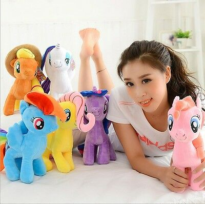 "Hot10"" 20cm My Little Pony Horse Figures Stuffed Plush Soft Doll Toys Kids Teddy"