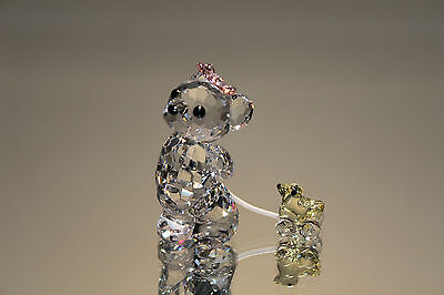 Swarovski Crystal It's a Girl Kris Bear Figurine 949710 New in Box 9400 NR 207