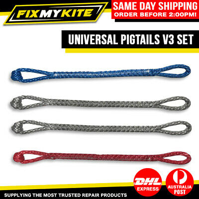 Universal Pigtails V2 X4 Set Of 4 Kite Kitesurf Kiteboard Line By Fixmykite