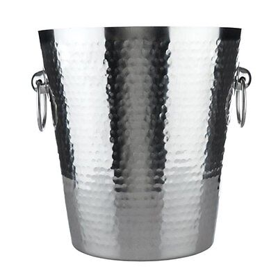 Viski: Hammered Metal Ice Bucket