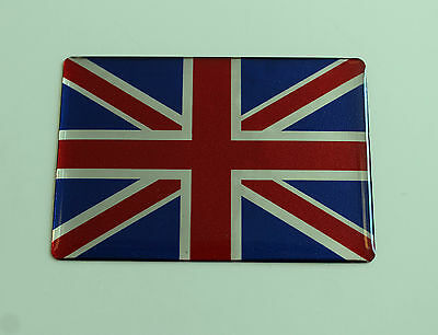 UNION JACK FLAG Sticker/Decal - 70mm x 50mm WITH HIGH GLOSS DOMED GEL FINISH