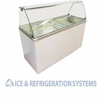 Fricon 10 Flavor Ice Cream / Gelato Dipping Cabinet Commercial Freezer Ddc61