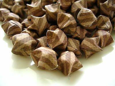 Brown Fall Origami Lucky Stars Paper Goodies, Good Luck, Brown Decroration 189