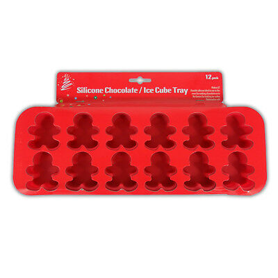 Silicone Chocolate / Ice Cube Tray - GingerBread Man - Xmas Baking Party Fun New