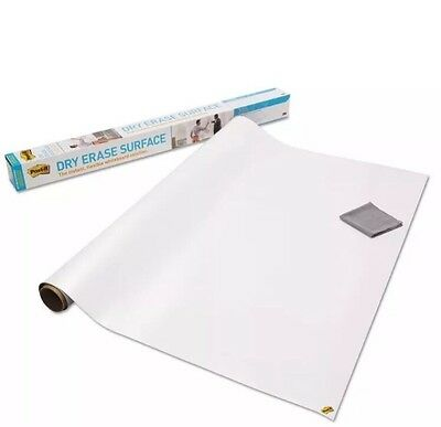 "3M Post-it Dry Erase Surface - 48"" X 96"" White Film - 1 /Pack 8' X 4' New"