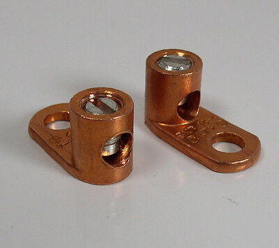 (2) Thomas & Betts BKB 14-4 L70 Copper Lug Connector Blackburn Lot of 2