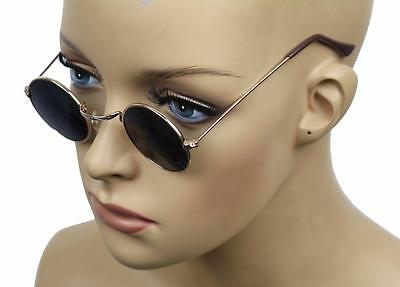 New Kid's Retro Vintage Children's Small Metal Circular Sunglasses Gold 861
