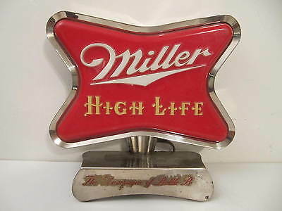 VTG 1950s MILLER HIGH LIFE BEER BACK BAR LIGHT UP SIGN FOR RESTORATION OR PARTS