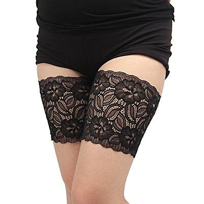Leewin Lace silicone Elastic Anti-Chafing Thigh Bands Prevent Thigh Chafing Sock