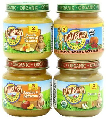 Earth's Best Organic Stage 2, Favorite Fruits Variety Pack, 12 Count, 4 Ounce J