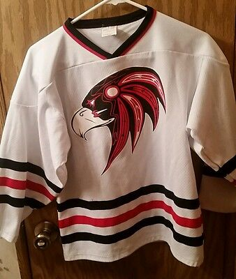 Cool White EAGLES Hockey Jersey Youth Large