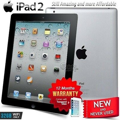 New in Sealed Box APPLE iPad 2 II A5 CPU 32GB Black PC Tablet (Wifi Only)