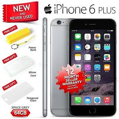New Sealed Factory Unlocked APPLE iPhone 6 Plus + Space Grey 64GB 4G Smartphone