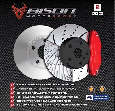 50% OFF DRILLED &SLOTTED BA BF XR6 XR8 Turbo Front Disc Rotors Ford Falcon 504DS