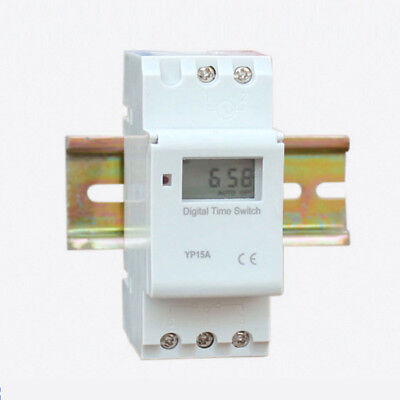 DIN Rail Digital LCD Power Programmable Timer Time Relay Switch AC 220-240V 16A