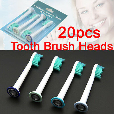 NEW 20 PCS Electric Tooth Brush Heads Replacement For Philips Sonicare HX6014