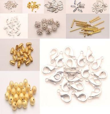 Finding Extend Connectors End Beads Lobster Clasp Charm For Jewelry Bracelet