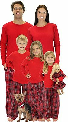 SleepytimePjs Kids Family Matching Pajamas Red Plaid 6