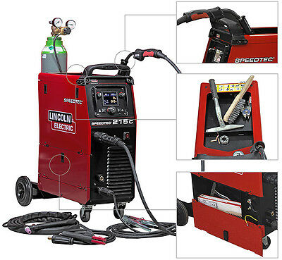 Lincoln Electric Speedtec 215C Multi Process Welder Package 110/240 MIG TIG MMA