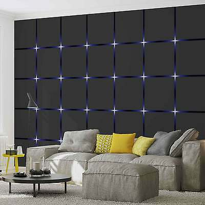 WALL MURAL Square Black Blue XXL PHOTO WALLPAPER (2155DC)