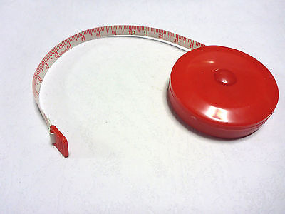 Dressmakers Spring loaded Retractable Tape Measure 150 cm / 60 inches