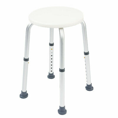 NRS L97718 Height Adjustable Round Shower Stool - for extra support & safety