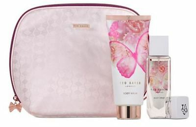 Ted Baker Floral Fancies Gift Bag Set Body Spray Body Wash Lip Balm Gift