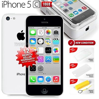 New in Sealed Box APPLE iPhone 5C White 16GB 4G LTE Version Smartphone 1 Yr Wrty