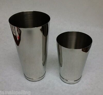 3 Piece BAR WEIGHTED COCKTAIL SHAKER & STRAINER Stainless Mixing Tin Set
